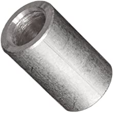 "Round Spacer, 2011 Aluminum, Plain Finish, #10 Screw Size, 1/2"" Length (Pack of 10)"