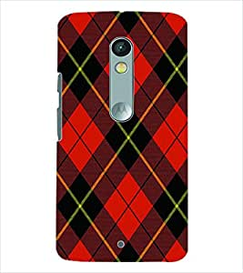 PRINTSWAG RED SQUARES PATTERN Designer Back Cover Case for MOTOROLA MOTO X PLAY