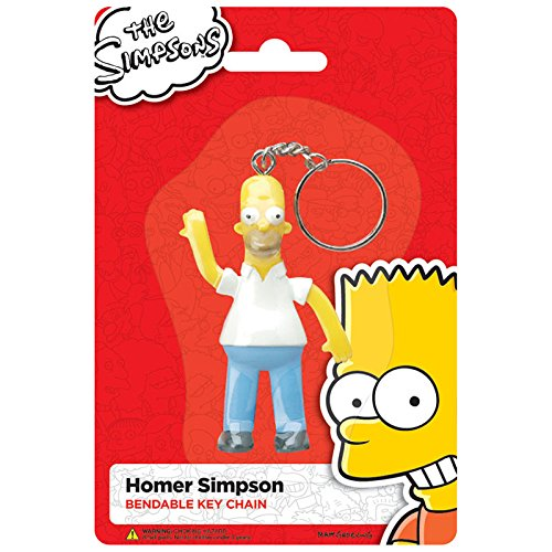 Officially Licensed The Simpsons, Homer Bendable Keychain
