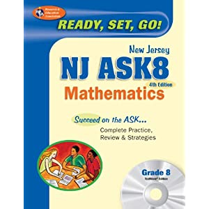 NJ ASK8 Mathematics 4th edition w/TestWare on CD-Rom (New Jersey ASK Test Preparation) Stephen Hearne Ph.D. and Penny Luczak MA