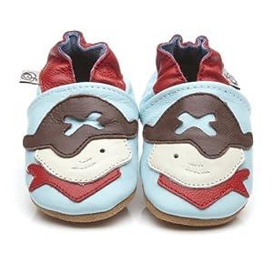 Suaves Zapatos De Cuero Del Bebé Pirata 6-12 meses - Bebe Hogar