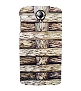 PrintVisa Criss Cross Wooden Pattern 3D Hard Polycarbonate Designer Back Case Cover for Lenovo S820