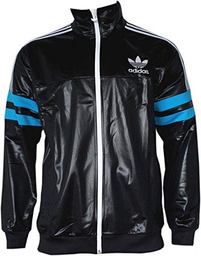 00cf8e6f7adad5 Adidas Originals Men s Air Force Black Chile 62 Retro Flock Zip Up Track  Top Jacket