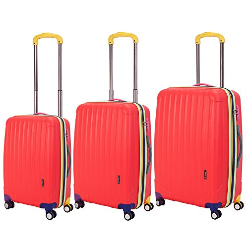 3-piece-Oversized-Expandable-Hardside-Double-Spinner-Luggage-Set-Red