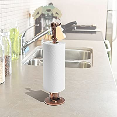Dachshund Toilet Paper Or Paper Towel Holder - Copper-Look Finish