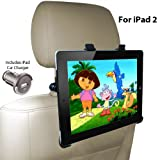 DBTech Headrest iPad 2 Car Mount - Fits all Cars - Great for Backseat Entertainment. Includes iPad Car Charger