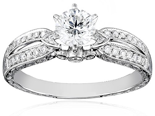 14k-White-Gold-Certified-Engagement-Ring-1-cttw-with-34-ct-Round-Center-I-J-Color-SI2-I1-Clarity