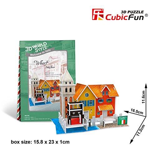 "Cubicfun Cubic Fun 3d Puzzle Model 19pcs Italy Flavor Wharf 16.5cm/6.5"" - 1"