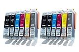 [2セット12個] BCI-351XL+350XL/6MP (350XLは顔料ハイグレードタイプ) 6色×2セット Canon 互換 インク タンク ICチップ付き(残量表示可能) (大容量) 対応機種: PIXUS MG7130 MG6530 MG6330 MG5530 MG5430 MX923 iP8730 iP7230 iX6830 [ZAZブランドオリジナル] [ FFPパッケージ(E)]