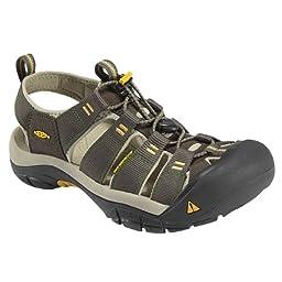 KEEN Men\'s Newport H2 Sandal, Raven/Aluminum, 10 M US