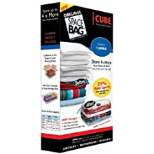 Space Bag BRS-6300 Vacuum-Seal Cube-Shaped Storage Bag, Jumbo