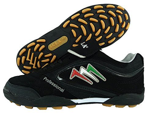 AGLA PROFESSIONAL TURF SLIM EXE OUTDOOR BLACK scarpe calcetto calcio a 5 futsal (EUR 38)