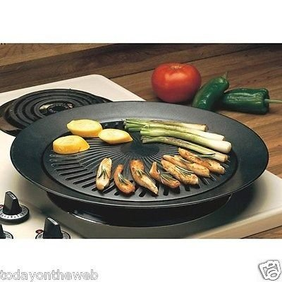 """NEW Chefmaster KTGR5 13"""" Smokeless Stovetop Barbecue Grill"""