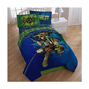 Teenage Mutant Ninja Turtles Full Bedding Comforter and Sheet Set TMNT