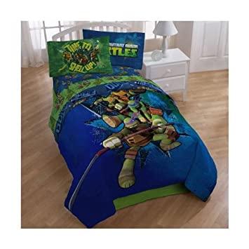 Teenage Mutant Ninja Turtles Full Bedding Comforter and Sheet Set