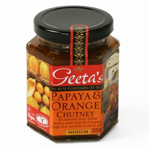 Geeta's Papaya and Orange Chutney (11.2 ounce)