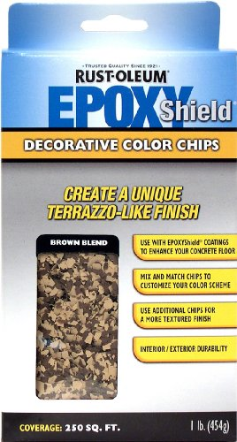 Rust-Oleum 238472 EPOXYShield Decorative Color Chips, Brown Blend