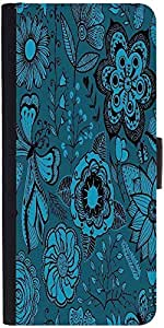 Snoogg Abstract Floral Background Graphic Snap On Hard Back Leather + Pc Flip...