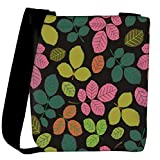 Snoogg seamless pattern with leaf Womens Carry Around Cross Body Tote Handbag Sling Bags