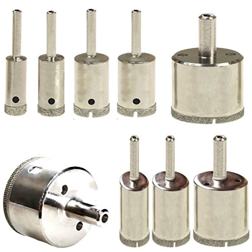 LOT 9 Pcs SET Diamond Hole Saw Drill Bit Set