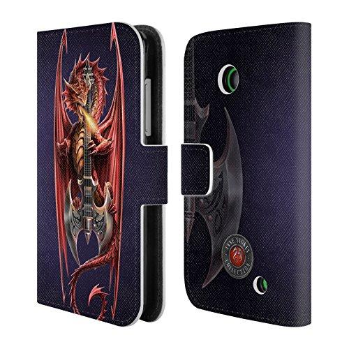 Ufficiale Anne Stokes Power Chord Dragoni Cover a portafoglio in pelle per Nokia Lumia 630 / 635