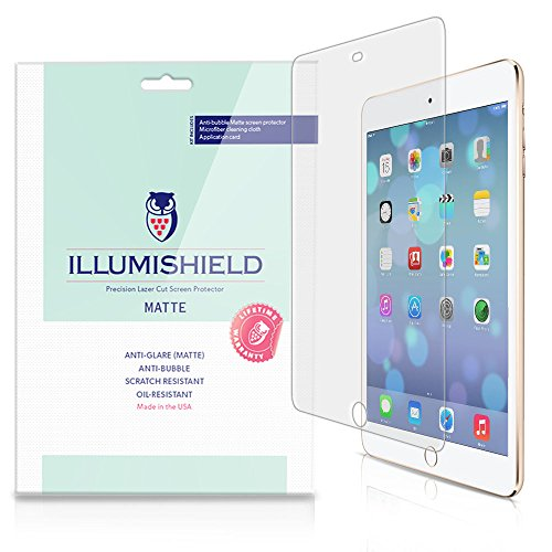 Illumishield - Apple Ipad Mini 3 Matte Screen Protector (2014) (3Rd Generation) With Lifetime Replacement Warranty / Anti-Glare Hd Clear Film / Anti-Bubble & Anti-Fingerprint / Premium Japanese High Definition Invisible Crystal Shield - [3-Pack] Retail Pa