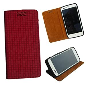 i-KitPit - New Design PU Leather Flip Case For iPhone 5 / 5S (RED)