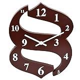 GATTS Purple Brown Red Purple(light) Blue High grade Plastic Wall Clock from GATTS (Brown )