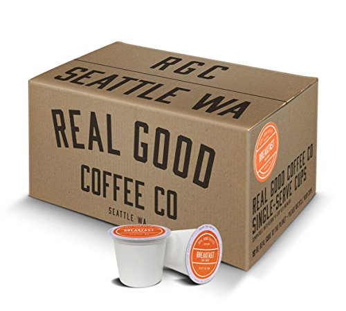 Real Good Coffee Co Recyclable K Cups, Breakfast Blend Light Roast, Keurig 2.0 and 1.0 Compatible, 72 Single Serve Coffees (Kuerig Light Roast Coffee compare prices)