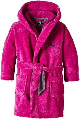 Tommy Hilfiger Mädchen Bademantel HD BATHROBE, Rosa (Pink), 140 (Herstellergröße: 10)