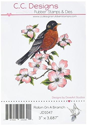 cc-designs-jd1047-dove-art-cling-stamp-3-x-35-robin-church-red-by-cc-designs