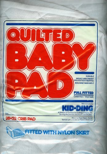 Kid-ding Quilted Crib Pad Fitted with Skirt - 28