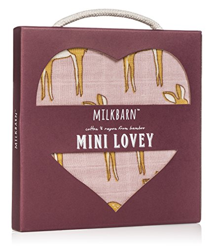 Milkbarn Organic Cotton Mini Lovey, Deer - 1