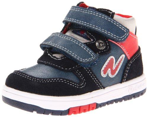 Naturino - Naturino Scarpe Bambino Blu Rosso Grigio Pelle Velluto Strappi Velcro Sport 412 - Blu, 21