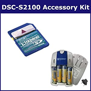 Sony DSC-S2100 Digital Camera Accessory Kit includes: SB251 Charger, KSD2GB Memory Card