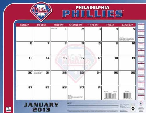 Perfect Timing - Turner 2013 Philadelphia Phillies Desk Calendar, 22 x 17 Inches (8061189) at Amazon.com