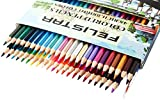 """Colored Pencils for Adult/Kids Coloring Books, 48 Assorted Watercolor Pencils Set for Artists """"Vibrant"""" With Brush & Sharpener"""