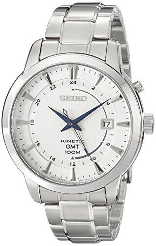 Seiko Men's SUN037 Analog Display Analog Quartz Silver Watch
