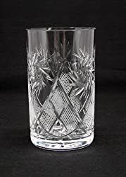 Russian Cut Crystal Drinking Glass for Hot/cold Fits Metal Glass Holder Podstakannik