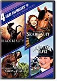 Cover art for  Four Film Favorites: Classic Horse Films (Black Beauty / The Story of Seabiscuit / National Velvet / International Velvet)