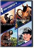 4 Film Favorites: Classic Horse Films (Black Beauty, National Velvet, International Velvet, The Story of Seabiscuit)