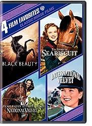 Classic Horse Films: 4 Film Favorites (Black Beauty / The Story of Seabiscuit / National Velvet / International Velvet)