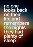 No One Looks Back Inspirational Motivational Quote Poster Print Art Picture - Size A3 (420 x 297 mm)