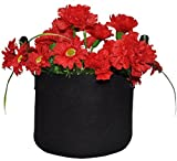 Richo 15 Gallons Pot Soft-Sided Container Planting Grow Bags with Handles,Black