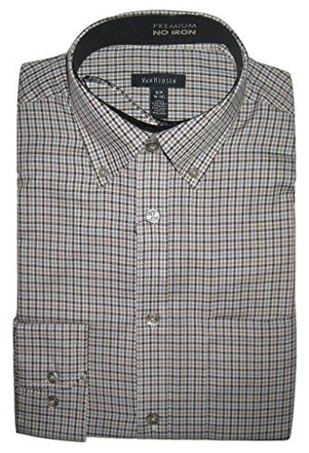 Van-Heusen-Mens-Premium-No-iron-Check-Long-sleeve-Shirt