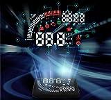 SUNNY リモコン付きヘッドアップディスプレイ スピードメーター HUD OBD2/EU OBD 5.5インチ大画面 時間表示機能搭載 接続口2個配線楽々 運転走行距離など測定 ドライブドクター フロントガラス ディスプレイ表示 SN-SEM05