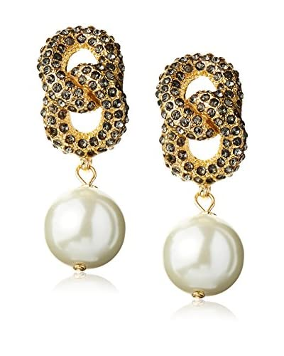Fragments Pavé Link Pearl Earrings As You See