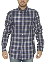 Fred Perry Camisa Hombre (Azul)
