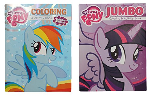 Bundle: MLP My Little Pony 2 pack Coloring and Activity Book Bundle with Twilight Sparkle & Rainbow Dash (2013) - 1