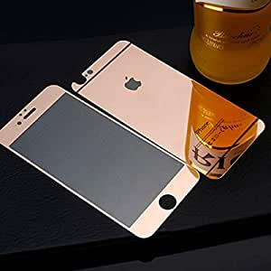 AEMA(TM) GLOSSY Tempered Glass Front and Back Screen Protector for Apple iPhone 6 PLUS (ROSE GOLD)